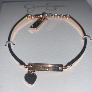 Jessica Simpson Love Rose Gold Bracelet
